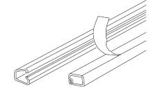 Minikanal LCD 96 12,5x13 mm hvid