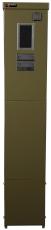 Målerstander med rude KSMØ 481210 for ledning grøn