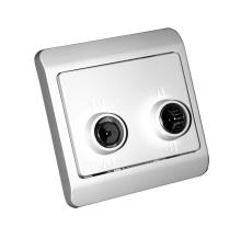 TD301 Slutdåse TV/R hvid, Opus66