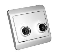 TD304 Sløjfedåse TV/R hvid, Opus66