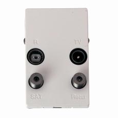 TD253D Slutdåse TV/R/Sat/Retur, hvid, til FUGA 50x77