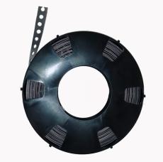 Bøjlebånd GL1 12x0,7 10M galvaniseret, lige kant, 1-hul
