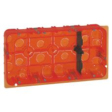 Mosaic indnmuringsdåse multidåse 2x10M 50 mm, rød, Europadås