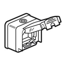 Plexo Mosaic Adapter 2M Semi-Transparent Låg Grå IP66