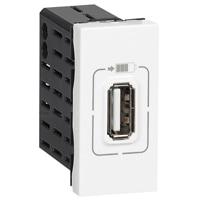 Mosaic Enkelt USB Stik 5V, 1M Hvid