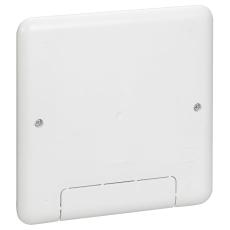 Batibox Mediabox 1x5M, hvid, 142x142x50 mm