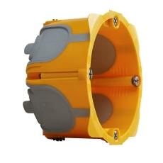 Forfradåse 2M 40 mm, gul, lufttæt, inkl. aflastning, Europad