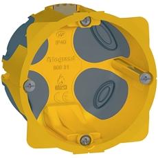 Forfradåse 2M 50 mm, gul, lufttæt, inkl. aflastning, Europad
