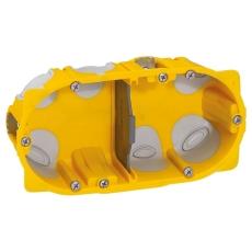 Forfradåse 4M 40 mm, gul, lufttæt, inkl. aflastning, Europad
