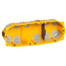 Forfradåse 6M 40 mm, gul, lufttæt, inkl. aflastning, Europad