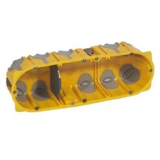 Forfradåse 6M 50 mm, gul, lufttæt, inkl. aflastning, Europad