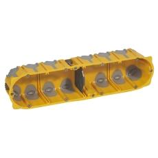 Forfradåse 8M 50 mm, gul, lufttæt, inkl. aflastning, Europad
