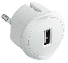 Multi-O USB lader 1500mA hvid til stikkontakt
