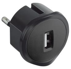 Multi-O USB lader 1500mA sort til stikkontakt