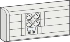 Kanal Kliksystem 50 x 180 mm hvid (2M)
