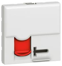 Mosaic Dataudtag Kat.6 UTP M/Adgangskontrol 2M Hvid med Rød