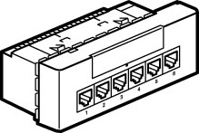 Mosaic Switch 6+2 RJ45 230V 10/100Base T