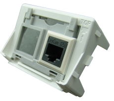 Dataudtag til 2 x Lexcom RJ45 grå ramme