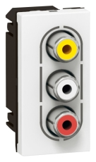 Moasic A/V Hunstik 3 RCA 1M Hvid