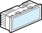 Mosaic Belyst Skilt 230V med Blå LED 5M