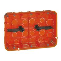 Mosaic indnmuringsdåse multidåse 2x8M 50 mm, rød, Europadåse