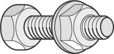 Sætskrue M825-E med møtrik+skive