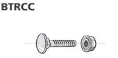 Bræddebolt TRCC 6x20-D med møtrik (100)