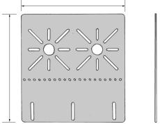 MONTERINGSPLADE MPU-L RAL 9010