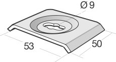 Spændeplade CE-40-X