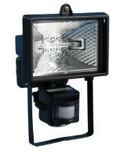 Projektør Halogen 120W med Sensor Sort