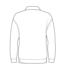 Polo sweatshirt, grå melange, str. XL