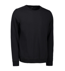 ID Sweatshirt 0615 med rund hals, sort, str. S