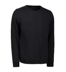 ID Sweatshirt 0615 med rund hals, sort, str. XL