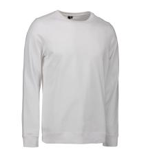 ID Sweatshirt 0615 med rund hals, hvid, str. 3XL