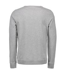ID Sweatshirt 0615 med rund hals, grå melange, str. L