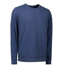 ID Sweatshirt 0615 med rund hals, blå melange, str. XL
