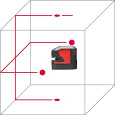 Leica Lino L2P5 prik-/streglaser med genopladbar batteri
