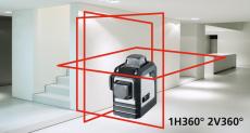 Laserliner CompactPlane 3D linjelaser, Rød 3x360°
