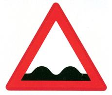 Advarselstavle, ujævn vej