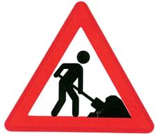 Advarselstavle, vejarbejde