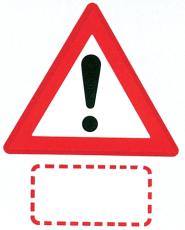 Advarselstavle, anden fare