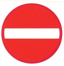 Forbudstavle, indkørsel forbudt
