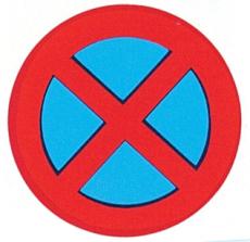 Forbudstavle, standsning og parkering forbudt