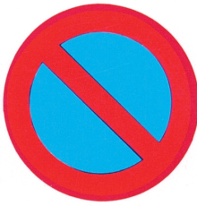 Forbudstavle, parkering forbudt