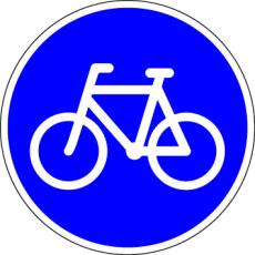 Påbudstavle, cykelsti