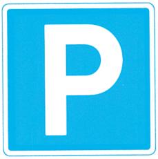Oplysningstavle, parkering