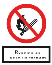 Rygning og åben ild forbudt, A4