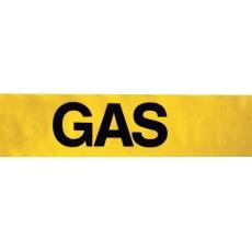 Markeringsbånd, gul, GAS, 100 x 0,1 mm, 500 m