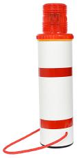 Langtgodsafmærker med rød LED blinklygte