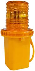 LED-blinklygte, gul linse